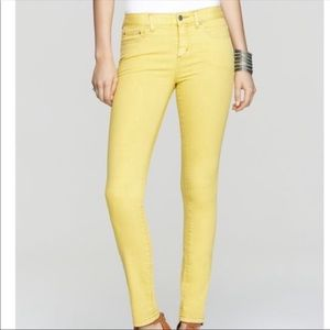 Free People Millennium Yellow Skinny Jeans